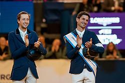 Podium, Guerdat Steve, SUI, Fuchs Martin, SUI<br /> LONGINES FEI World Cup™ Finals Gothenburg 2019<br /> © Hippo Foto - Stefan Lafrentz<br /> 07/04/2019