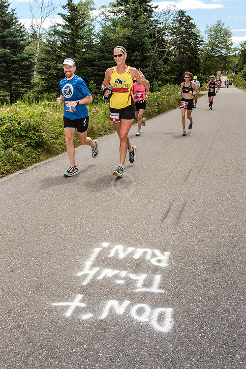 Great Cranberry Island Ultra 50K road race: Ethan and Jennifer, road signage
