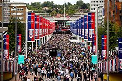 Fans walk down Wembley Way ahead of the Sky Bet Championship Playoff Final - Mandatory by-line: Robbie Stephenson/JMP - 27/05/2019 - FOOTBALL - Wembley Stadium - London, England - Aston Villa v Derby County - Sky Bet Championship Play-off Final