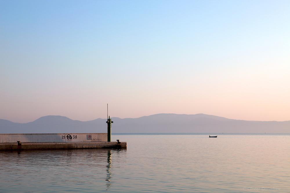 Port of Drvenik, Croatia. Port de Drvenik, Croatie.