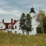 &quot;Point Iroquois Storm&quot;<br /> <br /> The lovely Point Iroquois Light Station! A scenic lighthouse located on the shores of Lake Superior in Michigan's Upper Peninsula!!<br /> <br /> Lighthouses of the Great Lakes by Rachel Cohen