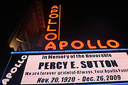 Atmosphere along West 125th Street in area of Apollo Theater in which, the late Percy Sutton was instrumental in saving revered institution from an untimely death in the early to late eighties. His passing, on December 26, 2009 at the age of 89, marks a send-off of one of Harlem's Greats who's career and life work has touched many in the Harlem and International communities . ..Known as ' The Chairman ' Percy Sutton Mr. Sutton died on Saturday at age 89. He had been a Tuskegee Airman, Malcolm X's lawyer, the Manhattan borough president and a media mogul.  Terrence Jennings/Retna, Ltd