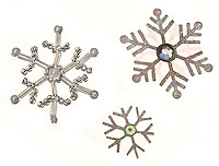 jeweled snowflakes