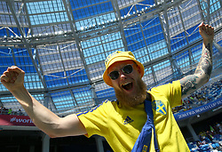 June 18, 2018 - Nizhniy Novgorod, Russia - Group F Sweden v Korea Republic - FIFA World Cup Russia 2018..Sweden supporter at Nizhny Novgorod Stadium, Russia on June 18, 2018. (Credit Image: © Matteo Ciambelli/NurPhoto via ZUMA Press)