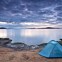 Camping at Ruckle Provincial Park, Saltspring Island, in the Gulf Islands, British Columbia, Canada