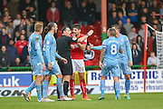 Swindon Town Defender, Raphael Rossi Branco after being shown the red card during the EFL Sky Bet League 1 match between Swindon Town and Bolton Wanderers at the County Ground, Swindon, England on 8 October 2016. Photo by Adam Rivers.