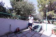 Christian Burns<br /> Raduno Nazionale Maschile Senior<br /> Allenamento mattina, sala pesi<br /> Cagliari, 02/08/2017<br /> Foto Ciamillo-Castoria/ M. Brondi