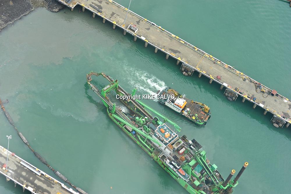 Ship at the Panama Canal.