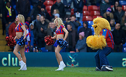 LONDON, ENGLAND - Saturday, February 21, 2015: Crystal Palace's cheerleaders, the Crystals, perform at half-time during the Premier League match against Arsenal at Selhurst Park. (Pic by David Rawcliffe/Propaganda)