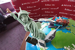 The cake, as Delta launching year-round nonstop service from Edinburgh to New York-JFK today at Edinburgh Airport.