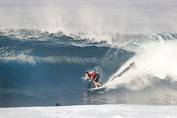 December 8, 2017 - Oahu, Hawaii, U.S. - - Griffin Colapinto of the USA advances to the Quarter Finals of the Pipe Invitational after winning Round One of Heat 1 at Pipe, Oahu. (Credit Image: © WSL via ZUMA Wire/ZUMAPRESS.com)
