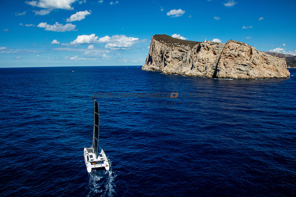 Multihullcup 2016. Port Adriano Mallorca.The MultihullCup is a new idea for a fun, competitive regatta aimed at 50&rsquo;+ performance cruising multihulls<br /> Image licensed to Jesus Renedo