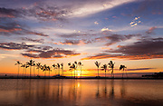 Sunset on Kuu Alii Fishpond at Wiakoloa Beach Hawaii