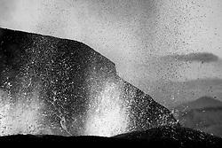 Volcanic eruption, Fimmvorduhals, Iceland - eldgos á Fimmvörðuhálsi
