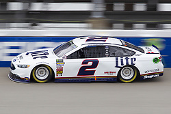 June 10, 2018 - Brooklyn, Michigan, U.S - NASCAR driver BRAD KESELOWSKI (2) comes out of turn four during the 50th Annual FireKeepers Casino 400 at Michigan International Speedway. (Credit Image: © Scott Mapes via ZUMA Wire)