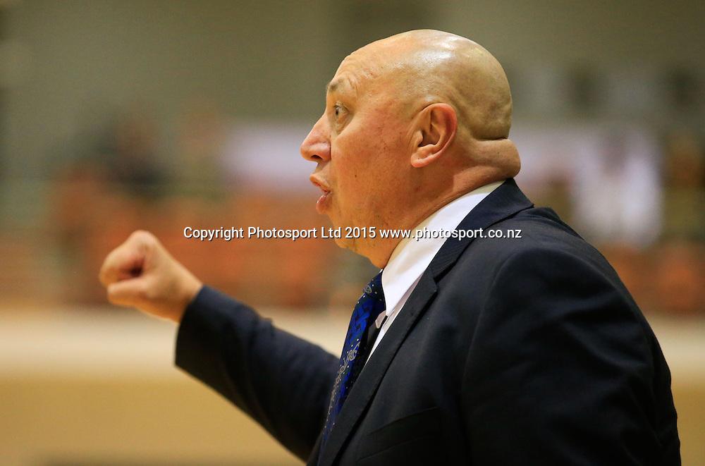 Ranger's coach Jeff Green. NBL basketball, Hawkes Bay Hawks  v Super City Rangers, PG Arena, Napier, New Zealand. Saturday, 18 April, 2015. Copyright photo: John Cowpland / www.photosport.co.nz