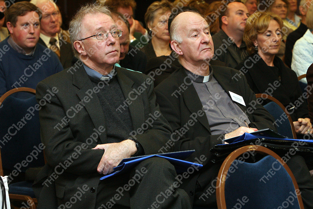 Bishop John Kirby of Clonfirt and Bishop Donal Murray of Limerick at the 2007 Ceifin Conference in the West County on Tuesday.<br />