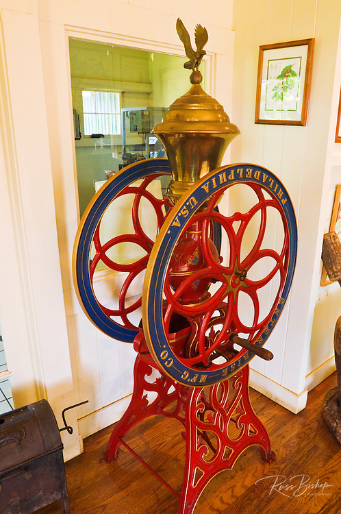 Antique coffee grinder at the Kauai Coffee Company museum, Island of Kauai, Hawaii