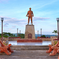A commemorative statue of Francisco Dagohoy who lead the longest revolt in Filipino history against the spanish colonialist erected in his home town of Inabanga in the Island of Bohol