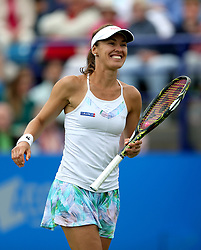Switzerland's Martin Hingis celebrates victory in the Women's Doubles Final during day nine of the AEGON International at Devonshire Park, Eastbourne.
