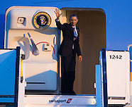 President Obama departs on Air Force One