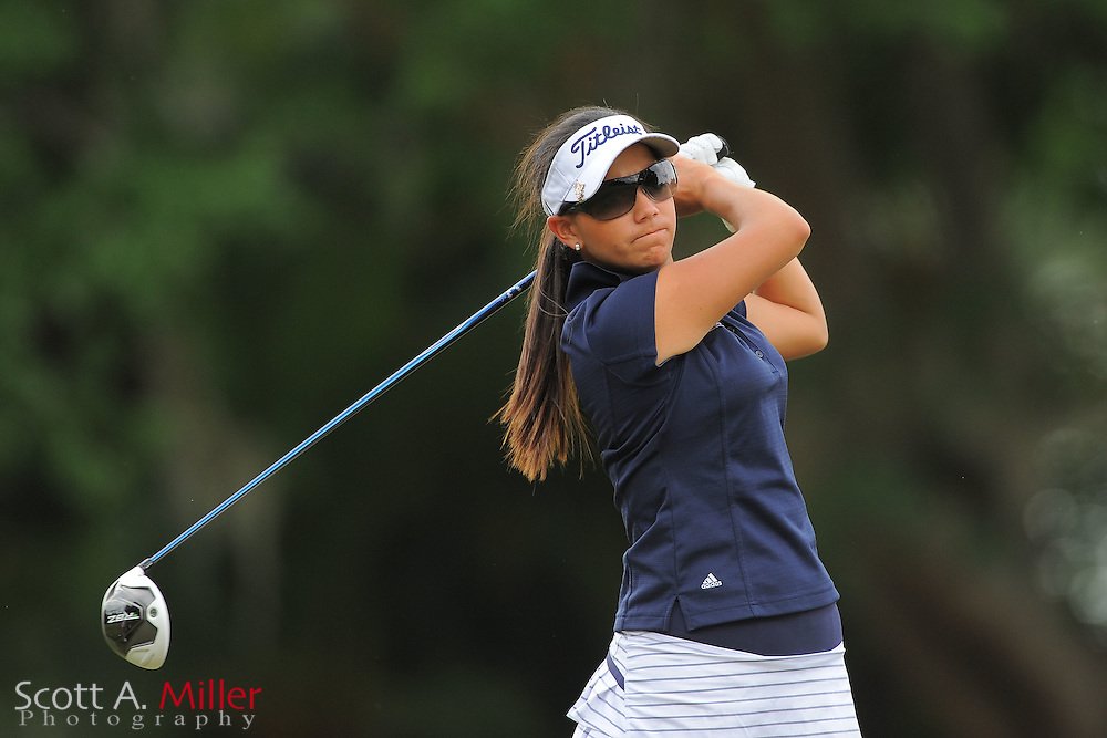 Gloriana Soto during the second round of the Symetra Tour's Florida's Natural Charity Classic at the Lake Region Yacht and Country Club on March 24, 2012 in Winter Haven, Fla. ..©2012 Scott A. Miller.