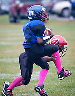 Huguenot, New York - Middletown plays Port Jervis in an Orange County Youth Football League Division II game on Oct. 4. 2014.