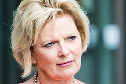 London, July 23rd 2017. Anna Soubry attends the Andrew Marr Show at the BBC's New Broadcasting House in London.