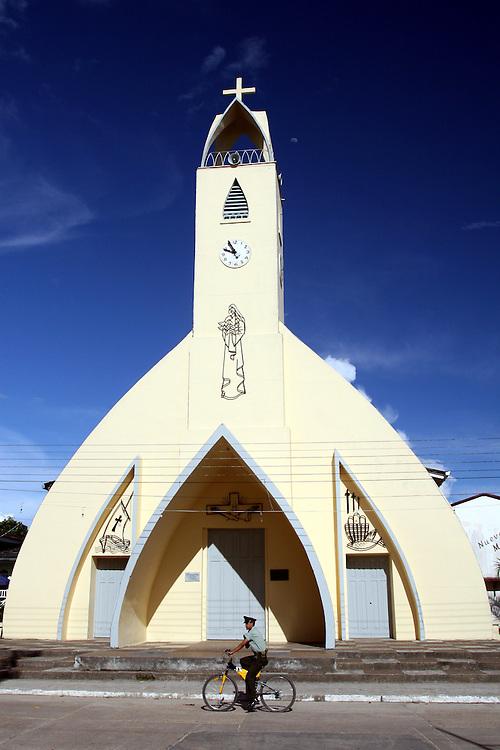 Detail of Catholic Church at Parque Santander