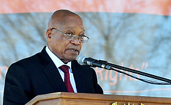 August 8, 2017 - South Africa's parliament debates over a no-confidence motion on President Jacob Zuma, debate is also over the future of the ruling African National Congress. The former liberation movement has led South Africa since the first all-race elections in 1994, but some parliament members warn that the ANC will lose support if Zuma is allowed to stay in office. If the no-confidence motion succeeds, Zuma will have to resign immediately. He has survived such votes in the past, but this is the first to use a secret ballot. The ANC had its worst showing last year in municipal elections as Zuma faced allegations of corruption. FILE IMAGE: March 21, 201 - King William's Town, South Africa -  South African President JACOB ZUMA during a rally to mark the Human Rights Day. Amid a surge in racism, the South African government is finalizing the National Action Plan against Racism and Related Intolerances, President Jacob Zuma said on Tuesday. (Credit Image: © Kopano Tlape/Xinhua via ZUMA Wire)