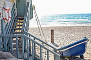 lifeguard station on a beach. Photographed in Israel