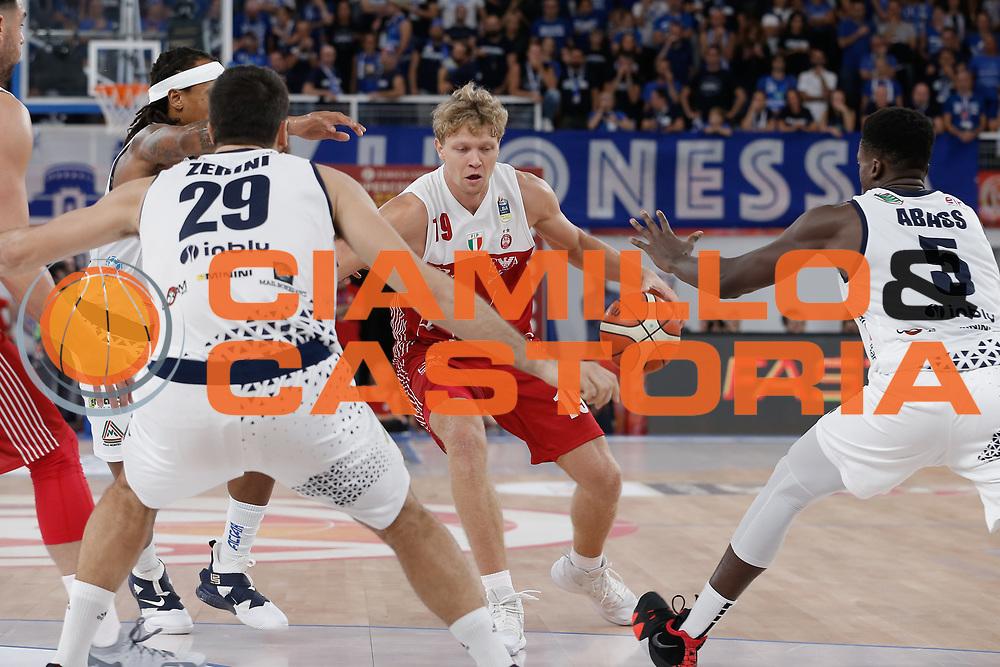 Mindaugas Kuzminskas<br /> A | X Armani Exchange Milano - Leonessa Germani Brescia<br /> LBA Lega Basket Serie A<br /> Zurich Connect Supercoppa 2018<br /> Brescia, 29/09/2018<br /> Foto MarcoBrondi / Ciamillo-Castoria