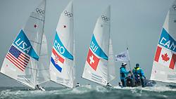 2012 Olympic Games London / Weymouth<br /> Marazzi Flavio, De Maria Enrico, (SUI, Star)<br /> MENDELBLATT Mark, Fatih Brian, (USA, Star)