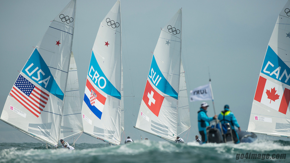 2012 Olympic Games London / Weymouth<br /> Marazzi Flavio, De Maria Enrico, (SUI, Star)<br /> MENDELBLATT Mark, Fatih Brian, (USA, Star)