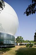 SERPENTINE PAVILION 2006, LONDON, W2 PADDINGTON, UK, REM KOOLHAAS - OFFICE FOR METROPOLITAN ARCHITECTURE, EXTERIOR, FROM GARDEN OF SERPENTINE
