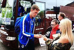 Joe Partington of Bristol Rovers signs autographs for fans outside Highbury Stadium - Mandatory by-line: Matt McNulty/JMP - 27/04/2019 - FOOTBALL - Highbury Stadium - Fleetwood, England - Fleetwood Town v Bristol Rovers - Sky Bet League One