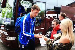 Joe Partington of Bristol Rovers signs autographs for fans outside Highbury Stadium - Mandatory by-line: Matt McNulty/JMP - 27/04/2019 - FOOTBALL - Highbury Stadium - Fleetwood, England - Fleetwood Town v Bristol Rovers - Sky Bet League One