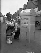 Corporation Litter Bins at the mechanical section yard, Dublin.27/06/1959