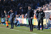 Scunthorpe United Manager Graham Alexander shouting instructions during the EFL Sky Bet League 1 match between Bristol Rovers and Scunthorpe United at the Memorial Stadium, Bristol, England on 24 February 2018. Picture by Gary Learmonth.