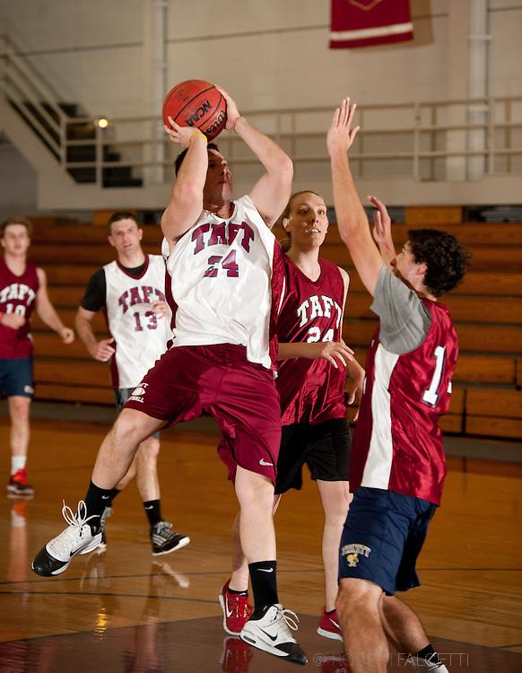 Taft School-February 8, 2014- Alumni basketball game. (Photo by Robert Falcetti)