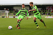 Forest Green Rovers Elliott Frear (11) and Forest Green Rovers Ben Jefford (3) during the Vanarama National League match between Forest Green Rovers and Bromley FC at the New Lawn, Forest Green, United Kingdom on 17 September 2016. Photo by Shane Healey.