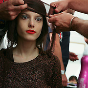 Milan, Italy, September 26, 2010. Backstage at Marni during the Milan Women's Fashion Week Spring/Summer 2011.
