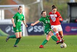 Hannah Short of Yeovil Town Ladies competes with Ella Rutherford of Bristol City- Mandatory by-line: Nizaam Jones/JMP - 27/01/2019 - FOOTBALL - Stoke Gifford Stadium - Bristol, England - Bristol City Women v Yeovil Town Ladies- FA Women's Super League 1