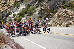 The lead group continue up the categorised climb at Amgen Tour of California Women's Race empowered with SRAM 2019 - Stage 3, a 126 km road race from Santa Clarita to Pasedena, United States on May 18, 2019. Photo by Sean Robinson/velofocus.com