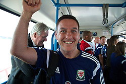 CARDIFF, WALES - Sunday, September 7, 2014: Wales masseur David Rowe at Cardiff Airport as the squad flies to Andorra ahead of the opening UEFA Euro 2016 qualifying match. (Pic by David Rawcliffe/Propaganda)