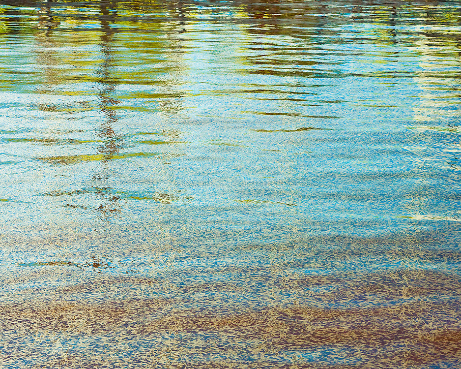 Abstrract water reflection from the Inner Harbor, Baltimore, Maryland on the Chesapeake Bay.