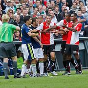 NLD/Rotterdam/20100919 - Voetbalwedstrijd Feyenoord - Ajax 2010, vechtpartij met oa Luis Suarez, Miralem Sulejmani, Stefan de Vrij en Leory Fer