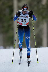 13.12.2014, Davos, SUI, FIS Langlauf Weltcup, Davos, 10 km, Frauen, im Bild Laura Mononen (FIN) // during Cross Country, 10km, ladies at FIS Nordic world cup in Davos, Switzerland on 2014/12/13. EXPA Pictures &copy; 2014, PhotoCredit: EXPA/ Freshfocus/ Christian Pfander<br /> <br /> *****ATTENTION - for AUT, SLO, CRO, SRB, BIH, MAZ only*****