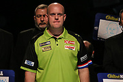 Michael van Gerwen during the walk-on during the World Darts Championships 2018 at Alexandra Palace, London, United Kingdom on 30 December 2018.