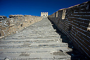 The ancient Great Wall of China at Mutianyu, north of Beijing (formerly Peking)